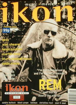 Ikon magazine - Michael Stipe cover (September 1995 - Issue 1)