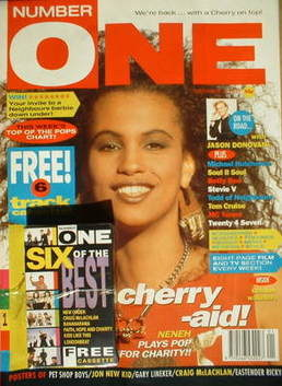 <!--1990-09-29-->NUMBER ONE Magazine - Neneh Cherry cover (29 September 199