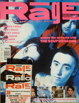Rage magazine - The Soup Dragons cover (24 October-6 November 1990 - Issue 1)