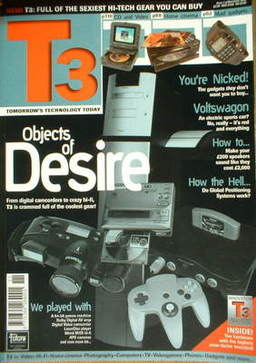 T3 magazine - Objects Of Desire cover (November 1996 - Issue 1)