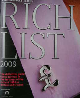 <!--2009-->The Sunday Times Rich List 2009 magazine