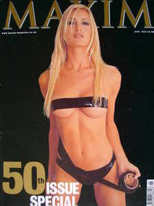 MAXIM magazine - Caprice cover (50th Issue Special; June 1999)