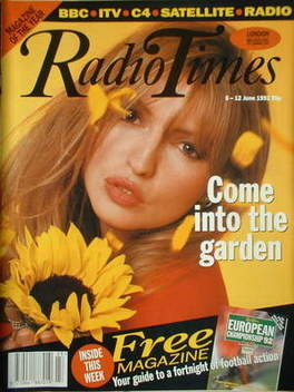 <!--1992-06-06-->Radio Times magazine - Caron Keating cover (6-12 June 1992