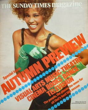 <!--1986-09-21-->The Sunday Times magazine - Whitney Houston cover (21 Sept
