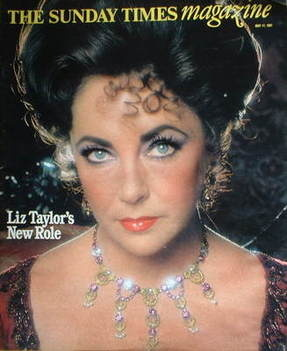 <!--1981-05-17-->The Sunday Times magazine - Elizabeth Taylor cover (17 May