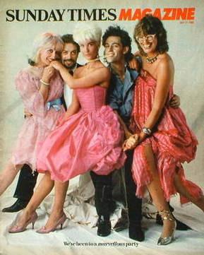 <!--1982-07-11-->The Sunday Times magazine - Paula Yates, Bob Geldof, Zandr