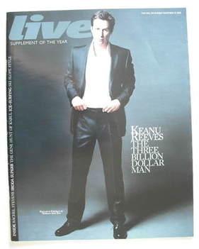 <!--2008-11-23-->Live magazine - Keanu Reeves cover (23 November 2008)