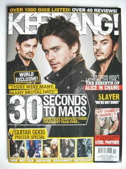 <!--2009-10-03-->Kerrang magazine - 30 Seconds To Mars cover (3 October 200