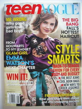 <!--2009-08-->Teen Vogue magazine - August 2009 - Emma Watson cover