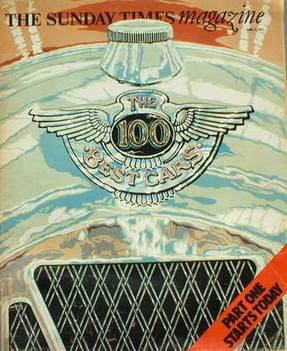 <!--1977-06-12-->The Sunday Times magazine - The 100 Best Cars cover (12 Ju