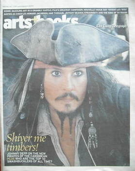 The Daily Telegraph Arts & Books newspaper supplement - Johnny Depp cover (