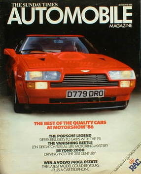<!--1986-10-19-->The Sunday Times magazine - Automobile magazine (19 Octobe