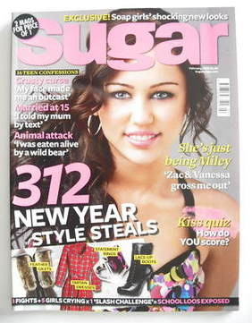 <!--2009-02-->Sugar magazine - Miley Cyrus cover (February 2009)
