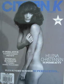 <!--2009-08-->Citizen K magazine - Summer 2009 - Helena Christensen cover