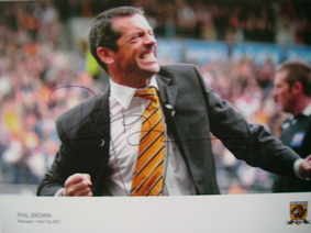Phil Brown autograph (Former manager of Hull City AFC)