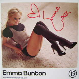 Emma Bunton autograph (Formerly of the Spice Girls)