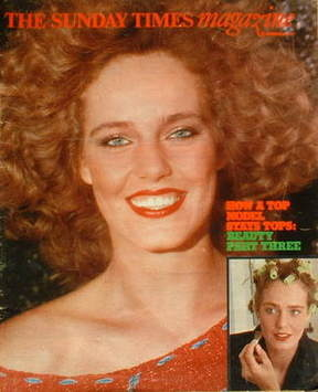 <!--1977-11-20-->The Sunday Times magazine - How A Top Model Stays Tops cov