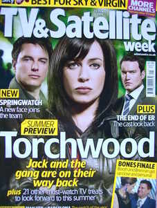 TV&Satellite Week magazine - John Barrowman, Eva Myles, Gareth David-Lloyd