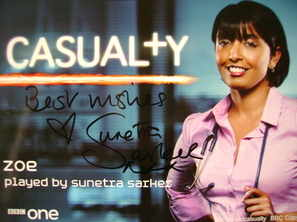 Sunetra Sarker autograph (Casualty actor)