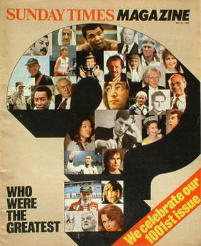 <!--1982-05-30-->The Sunday Times magazine - Who Were The Greatest cover (3