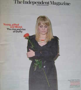 The Independent magazine - Duffy cover (23 February 2008)