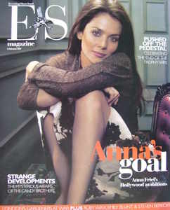 <!--2007-02-02-->Evening Standard magazine - Anna Friel cover (2 February 2