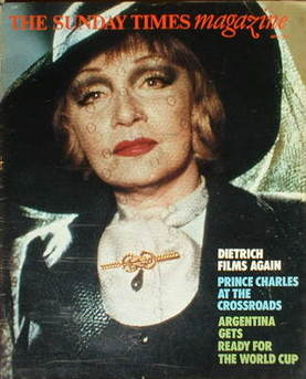 <!--1978-05-07-->The Sunday Times magazine - Marlene Dietrich cover (7 May