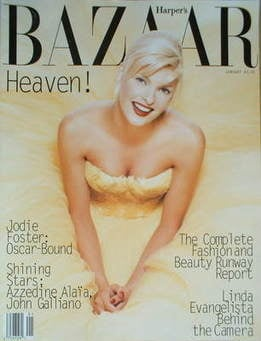 Harper's Bazaar magazine - January 1995 - Linda Evangelista cover (US Edition)