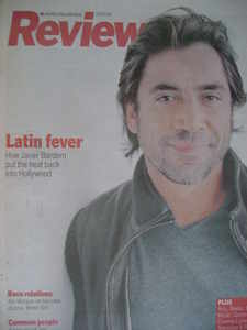 <!--2008-03-09-->Review magazine - Javier Bardem cover (9 March 2008)