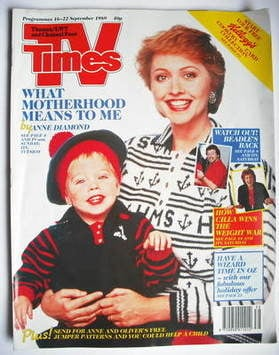 <!--1989-09-16-->TV Times magazine - Anne Diamond cover (16-22 September 19