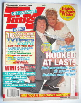 <!--1994-07-09-->TV Times magazine - Paul Bradley and Nicola Duffett cover