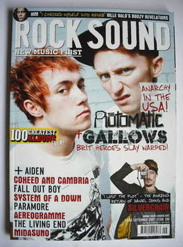 <!--2007-09-->Rock Sound magazine - The Automatic and Gallows cover (Septem