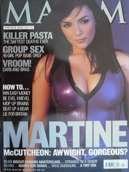 <!--1999-09-->MAXIM magazine - Martine McCutcheon cover (September 1999)