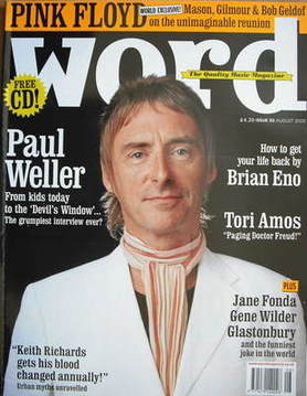 <!--2005-08-->The Word magazine - Paul Weller cover (August 2005)