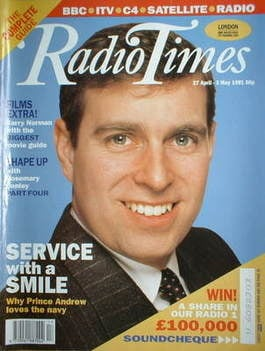 <!--1991-04-27-->Radio Times magazine - Prince Andrew cover (27 April-3 May