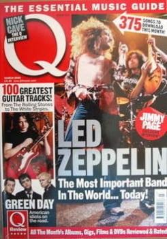 Q magazine - Led Zeppelin cover (March 2005)