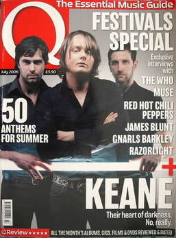 <!--2006-07-->Q magazine - Keane cover (July 2006)