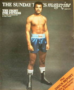 <!--1975-01-26-->The Sunday Times magazine - John Conteh cover (26 January