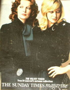 The Sunday Times magazine - YSL Autumn Collection cover (22 August 1971)