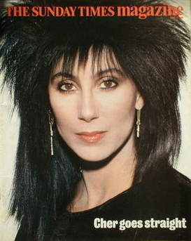 <!--1985-06-23-->The Sunday Times magazine - Cher cover (23 June 1985)