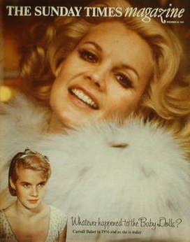 <!--1974-12-22-->The Sunday Times magazine - Carroll Baker cover (22 Decemb