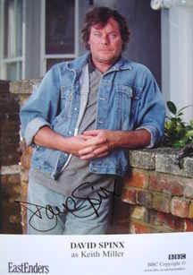 David Spinx autograph (ex EastEnders actor)