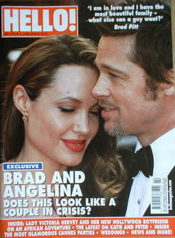 <!--2009-06-02-->Hello! magazine - Angelina Jolie and Brad Pitt cover (2 Ju