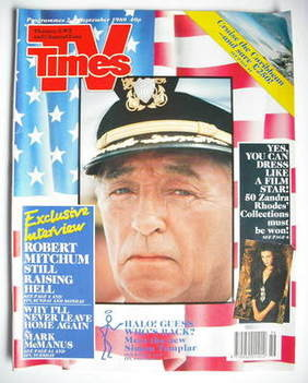 <!--1989-09-02-->TV Times magazine - Robert Mitchum cover (2-8 September 19