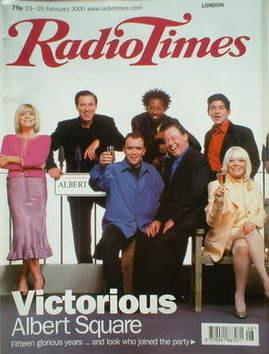 <!--2000-02-19-->Radio Times magazine - EastEnders cover (19-25 February 20