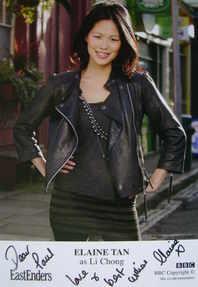 Elaine Tan autograph (ex EastEnders actor)