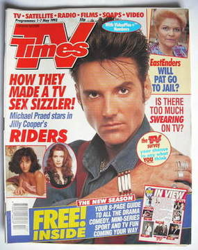 <!--1993-05-01-->TV Times magazine - Michael Praed cover (1-7 May 1993)