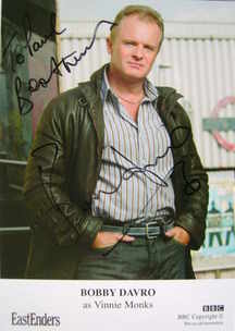 Bobby Davro autograph (ex EastEnders actor)