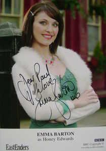 Emma Barton autograph (ex EastEnders actor)