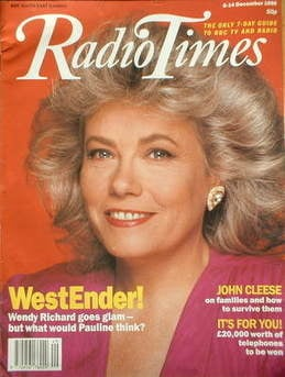 <!--1990-12-08-->Radio Times magazine - Wendy Richard cover (8-14 December